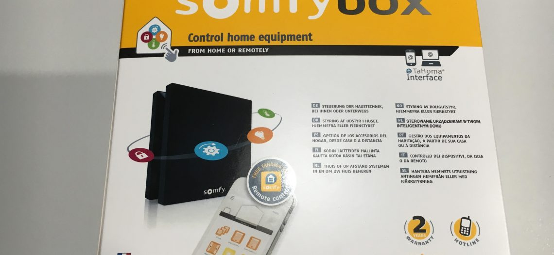 Présentation et test de la box domotique Somfy Box