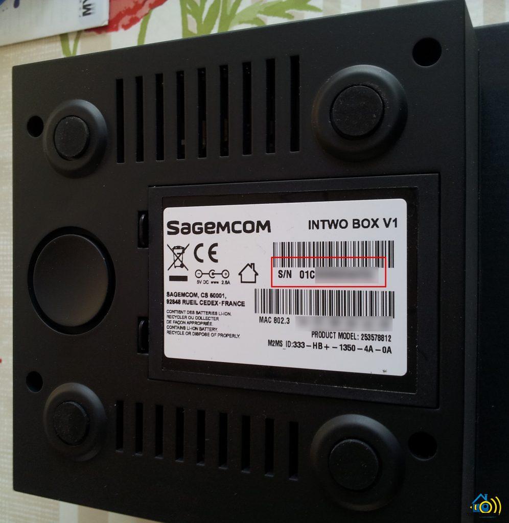 InTwo-Box-Numéro-de-Série-996x1024 Premier contact avec la Sagemcom InTwo box