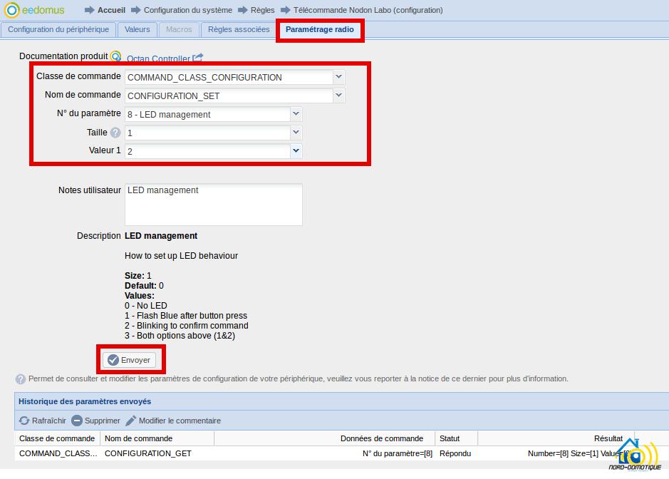 CRC_3_1_00-eedomus-configurer-LED Présentation et test de la télécommande NODON associée à l'eedomus