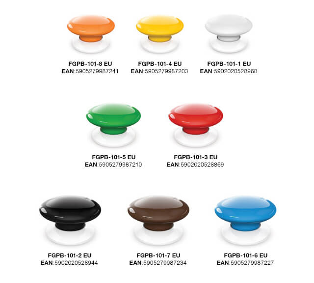 "coloris Test de ""The Button"" Fibaro sur la Eedomus"