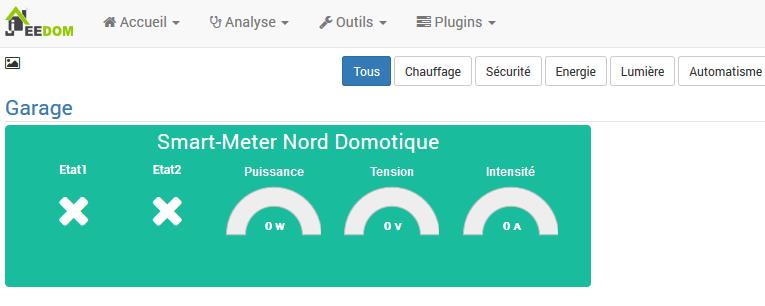 Jeedom5 Qubino Smart Meter avec JEEDOM