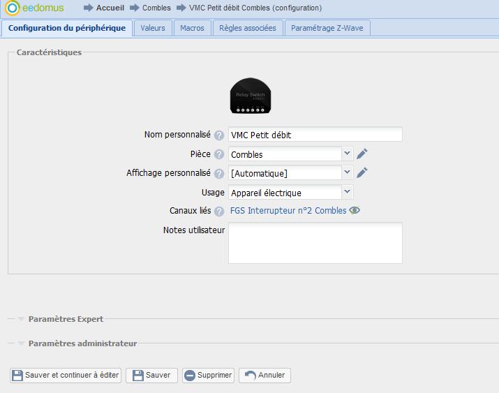Eedomus7 Gérer ma VMC avec la box de domotique Eedomus