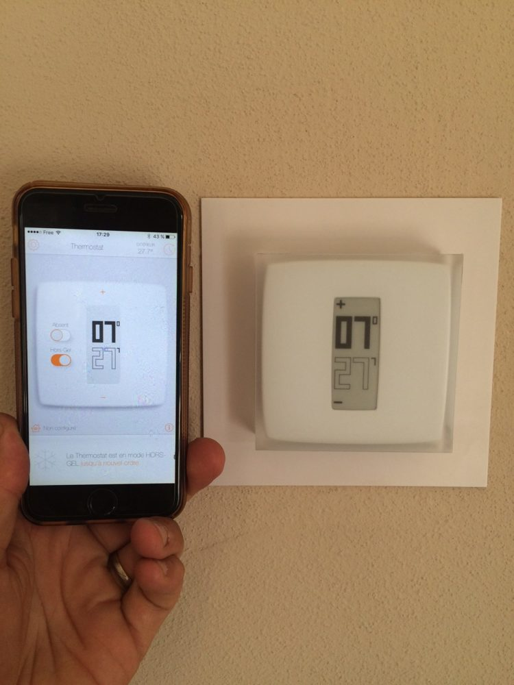 test thermostat connect netatmo by starck. Black Bedroom Furniture Sets. Home Design Ideas