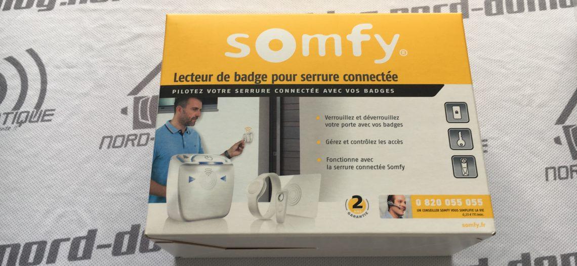 Lecteur de badge Somfy pour la serrure connectée