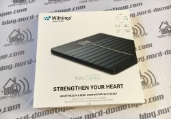 Présentation et test de la balance Withings body cardio.