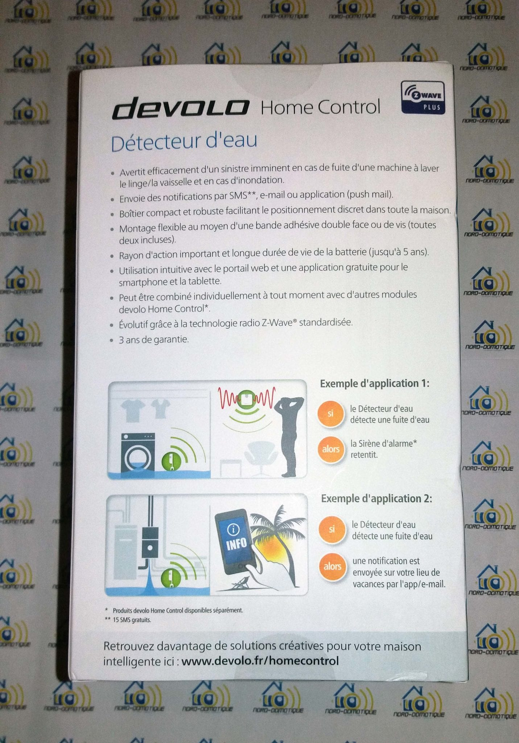 02-1 Test du détecteur d'eau de la gamme Home Control de chez Devolo