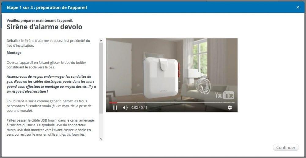 08-2 Test de la sirène d'alarme de la gamme Home Control de chez Devolo