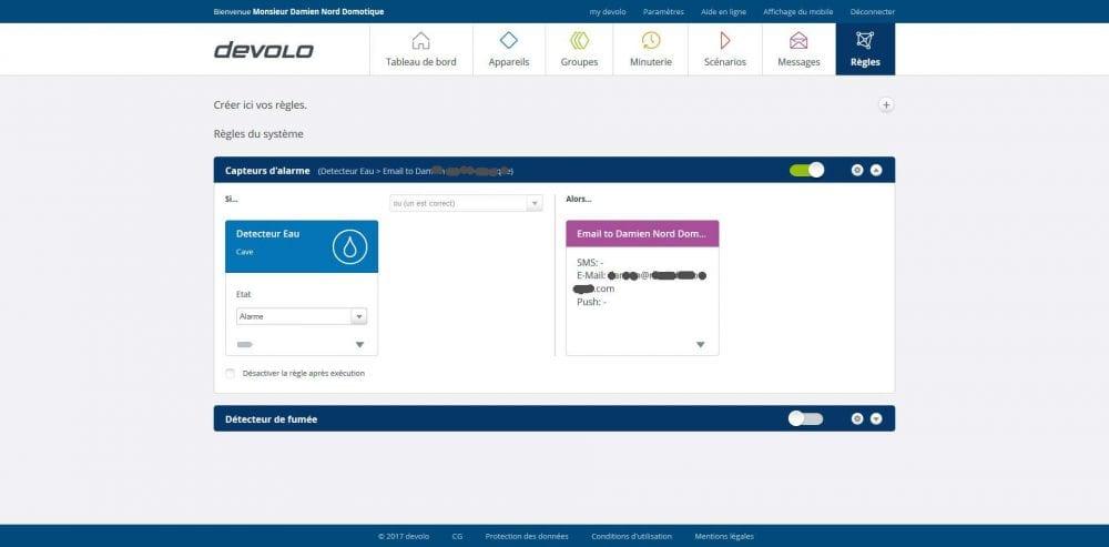 14-2 Test du détecteur d'eau de la gamme Home Control de chez Devolo