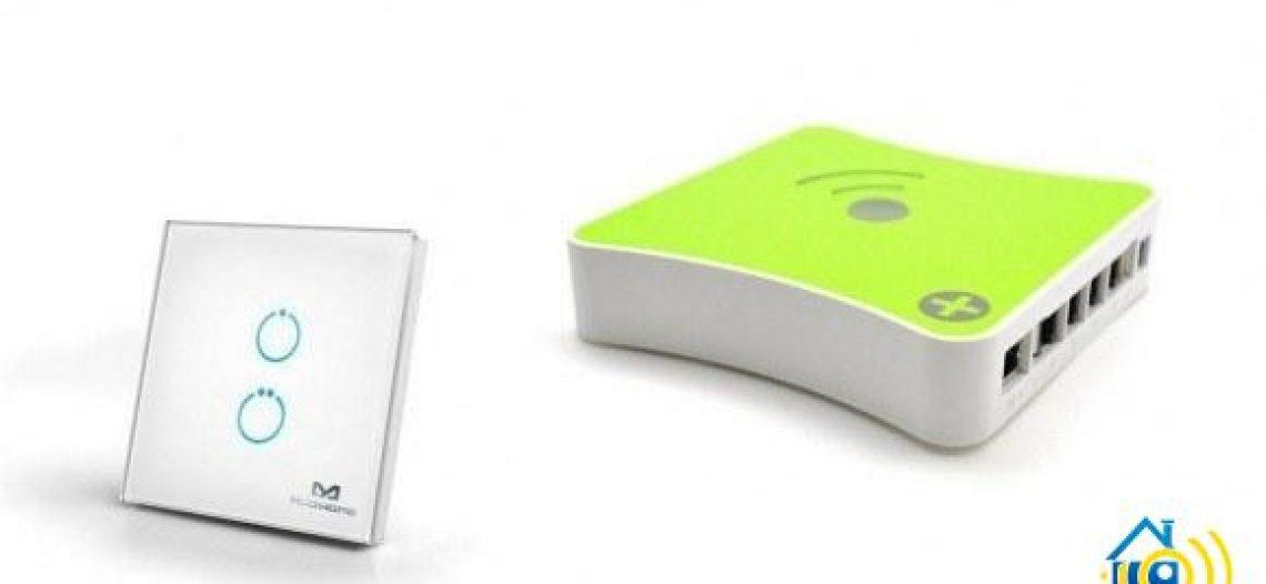 Guide d'utilisation de l'interrupteur tactile Z-Wave MCOHOME 2 charges avec la box domotique Eedomus