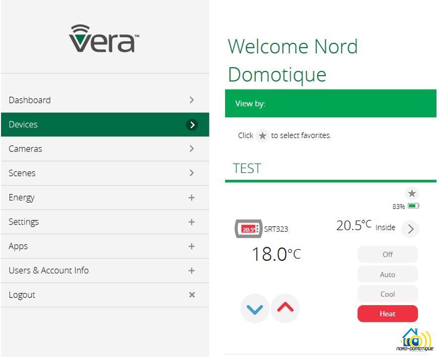 12 Test du Thermostat SRT323 sur Vera Edge