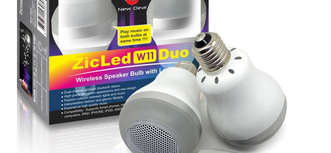 ZicLed : une ampoule qui sait aussi diffuser de la musique