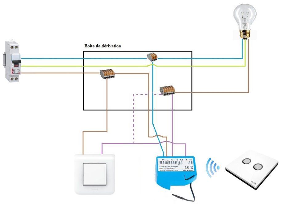apres-3 Mise en place d'un variateur de lumière domotisé sur une ancienne installation et Eedomus