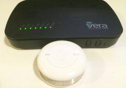Detecteur de fumée Fibaro associé à la VeraPlus