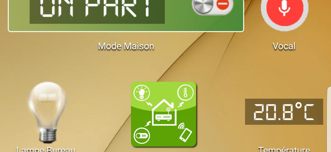 Notre Veille : DomoWidget: pilotez Jeedom depuis le dashboard de votre smartphone Android !