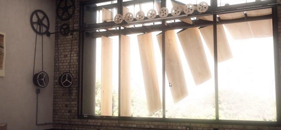 Notre Veille : Les lames de Penumbra se déplacent en 3D pour protéger le bâtiment du soleil