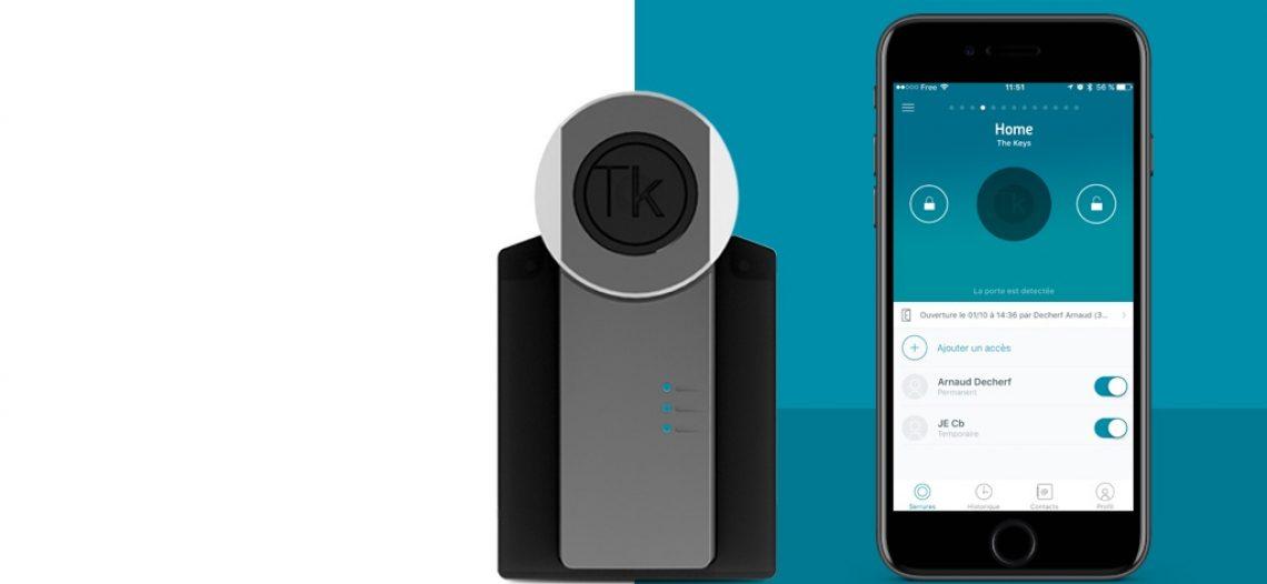 Notre Veille : TheKeys, une serrure connectée qui s'installe en 2 minutes