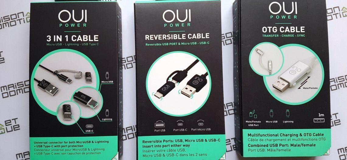 Notre Veille : OuiPower de Ouismart: des câbles malins et innovants pour smartphone et tablette