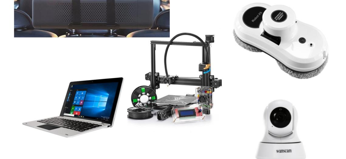 Notre Veille : 900€ Gagner une tablette pc, une imprimante 3D un nettoyeur de vitres, un purificateur d'air connecté voiture et un…