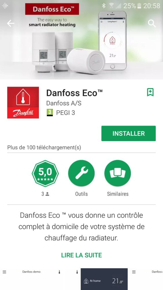 12-1 Test de la tête thermostatique Danfoss Eco Bluetooth