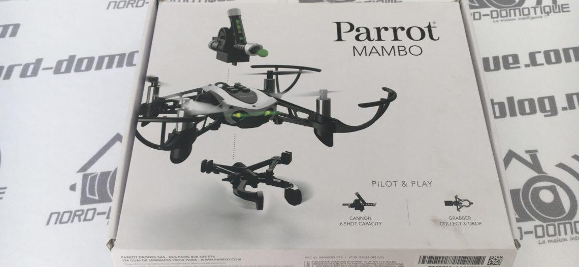 """Test du Drone Mambo de chez Parrot, le drone idéal pour débuter !<span class=""""wtr-time-wrap block after-title""""><span class=""""wtr-time-number"""">4</span> min de lecture pour cet article.</span>"""