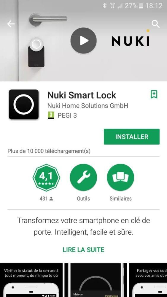 15-1 Test de la serrure connectée Nuki Smart Lock