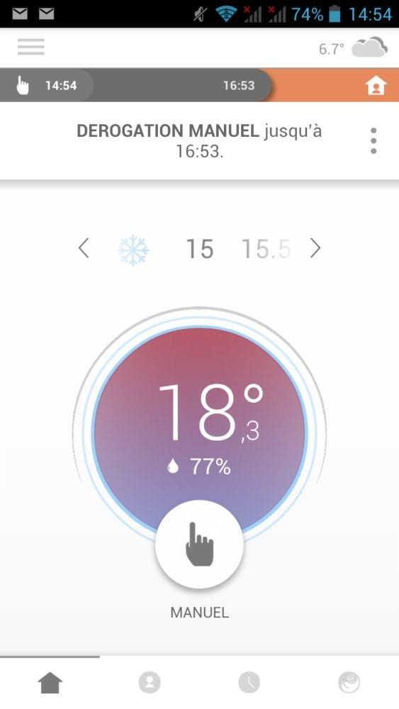 30 Test du thermostat connecté filaire Somfy