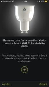 Awox-SmartLight-Mesh_7374-169x300 Test des ampoules Led basse consommation Smartlight Mesh GU10