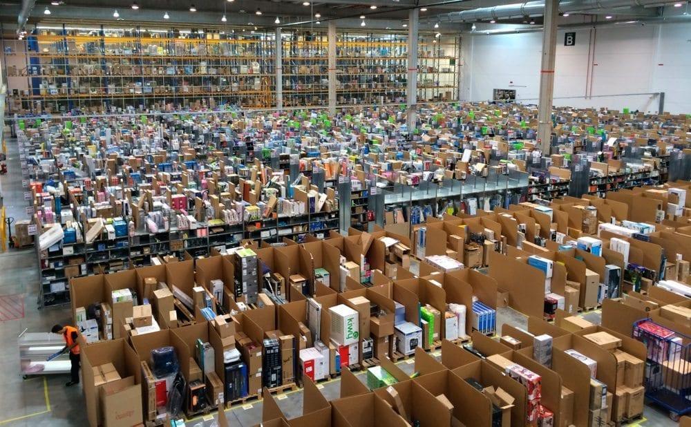 Amazon-storage-center Comment l'IoT est en train de révolutionner la logistique