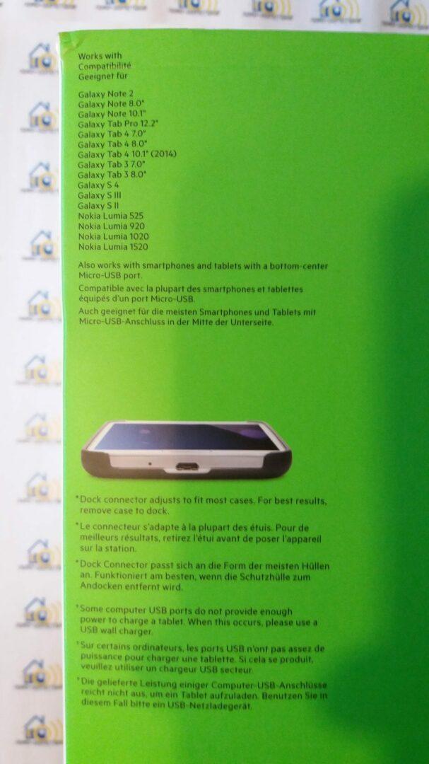 04-1 Test du dock universel micro USB Belkin PowerHouse XL