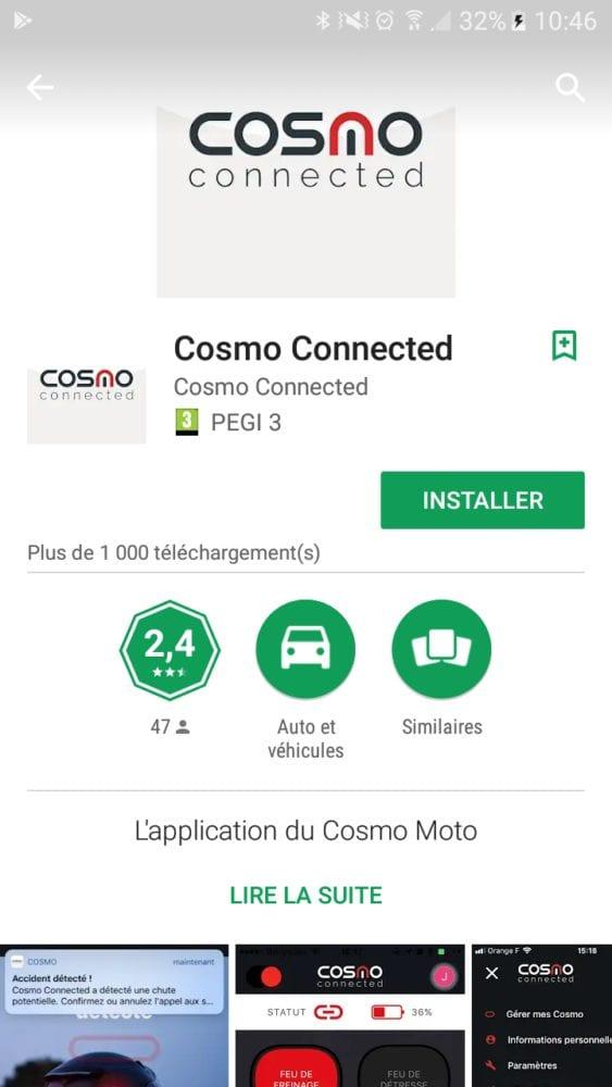 13 Test du feu de freinage Moto connecté Cosmo