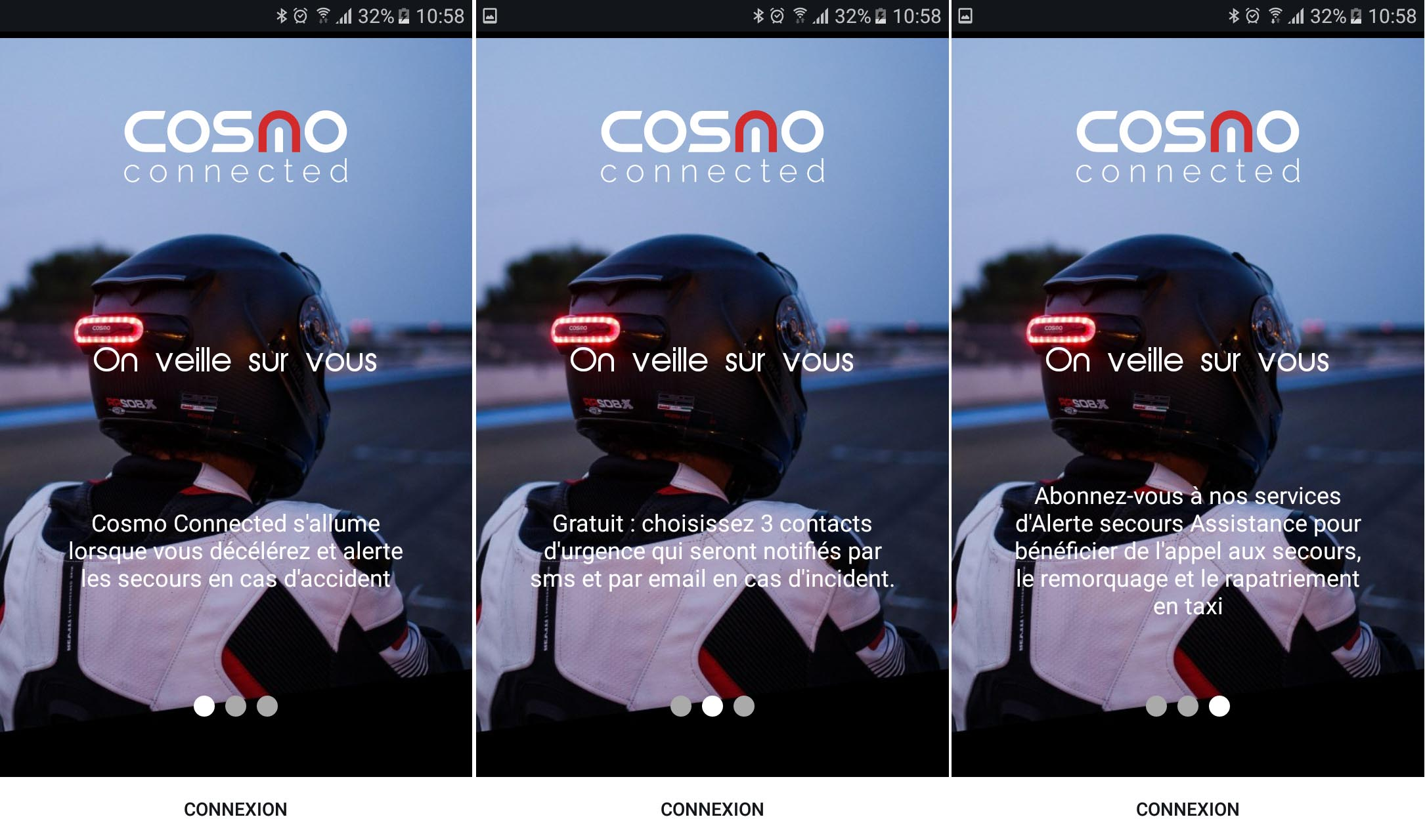 14 Test du feu de freinage Moto connecté Cosmo