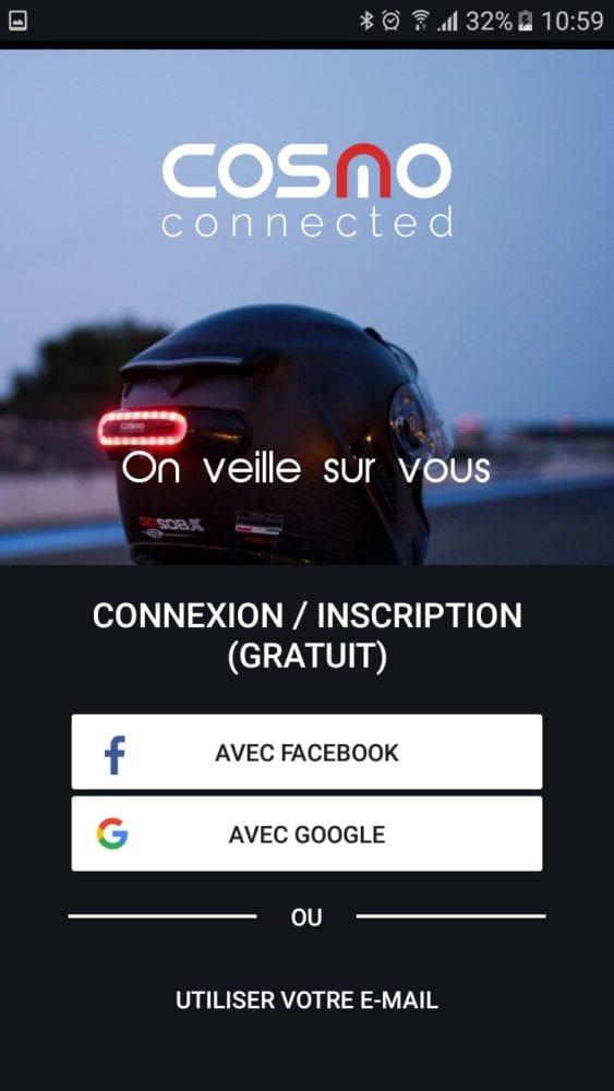 15 Test du feu de freinage Moto connecté Cosmo