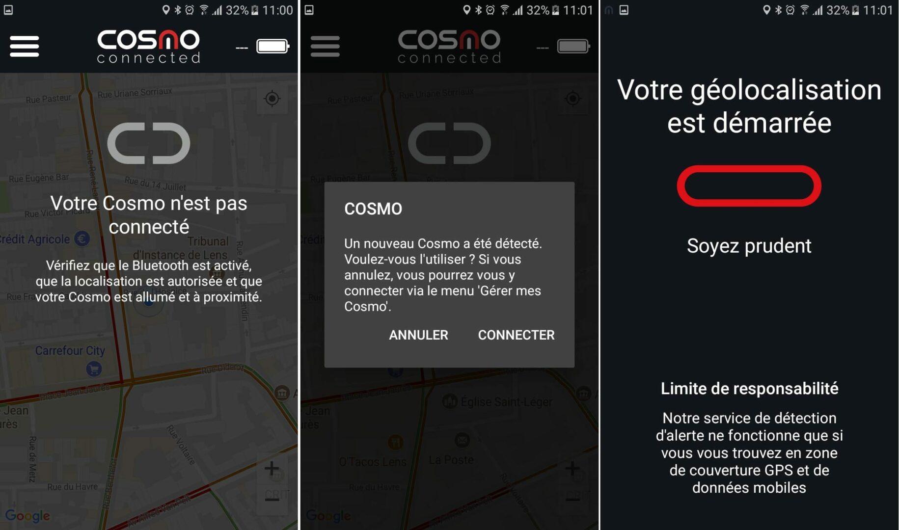 16 Test du feu de freinage Moto connecté Cosmo