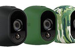 [Bon Arlo !  Accessoire Arlo – Pack de 3 Housses Camouflage Caméra pour Caméra Arlo (Noir, Vert, Camouflage) l VMA1200-10000S