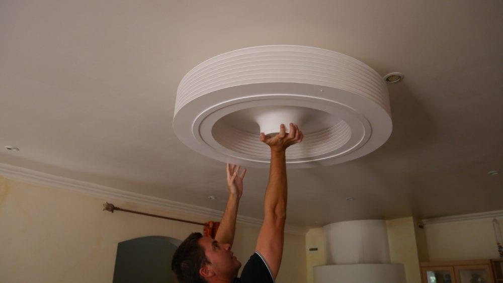 exhale un ventilateur de plafond sans pales et connect. Black Bedroom Furniture Sets. Home Design Ideas