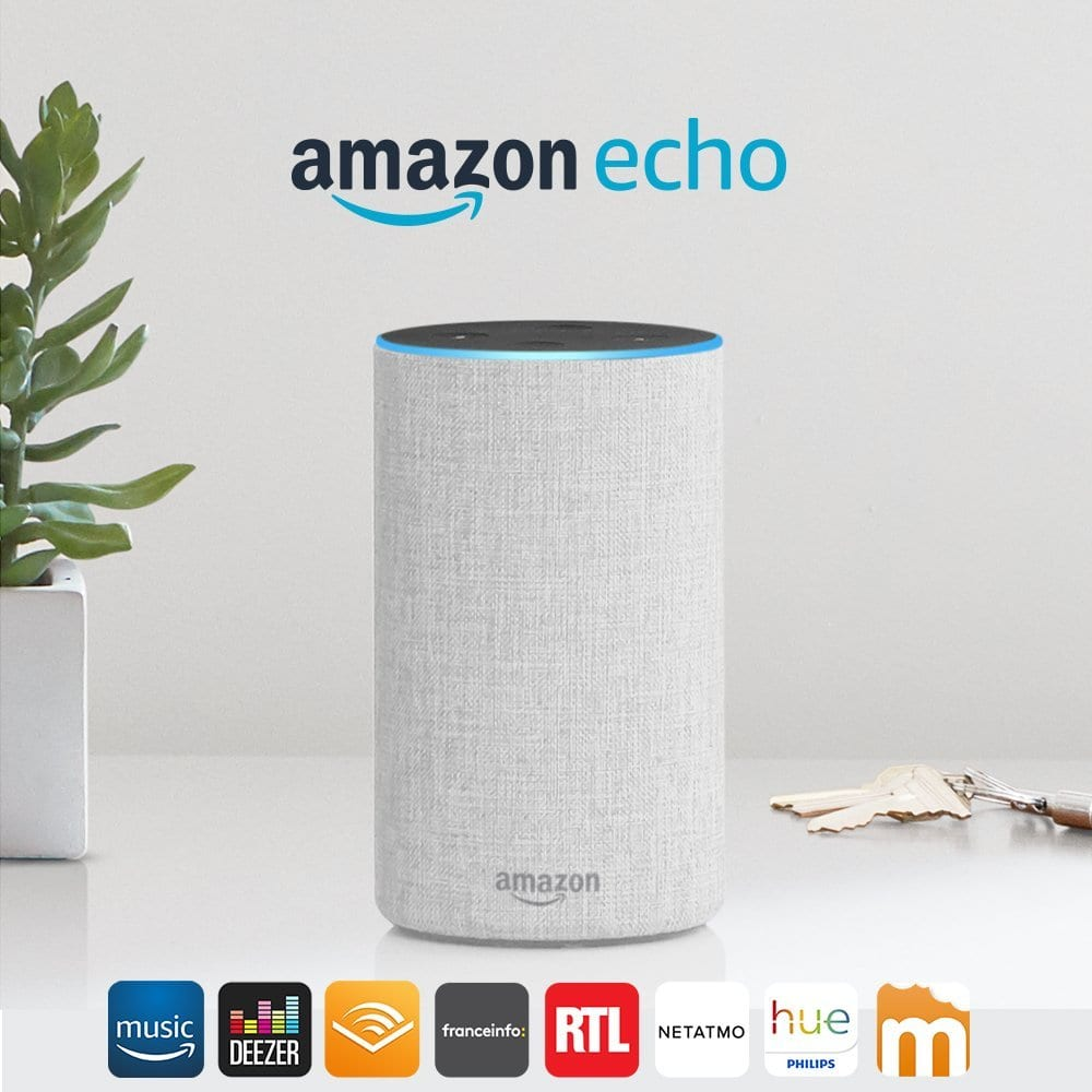 6110e59Tl4L._SL1000_ [Bon Plan] Amazon DoT / Amazon Echo (2éme génération) / Amazon Spot à -50%!!!
