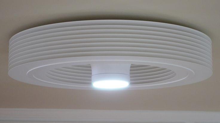 Exhale-Lampe Exhale, un ventilateur de plafond sans pales et connecté.