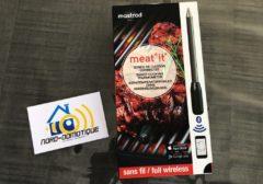 Test de Meat°it la première sonde de cuisson 100% sans fil