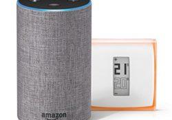 [Bon Plan Netatmo] Amazon Echo (2ème génération), Tissu gris chiné + Thermostat Connecté Netatmo by Starck