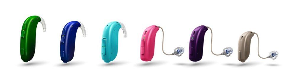 oticon-xceed-play-6-colours-product-lineup-cutout-copie-1000x277 Oticon lance les aides auditives Opn Play & Xceed Play pour connecter les enfants au monde